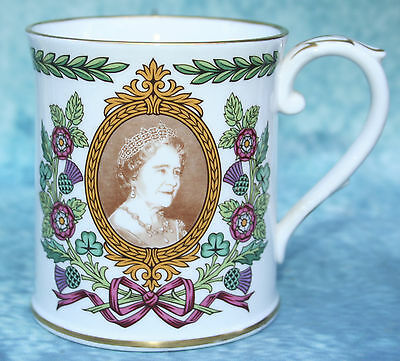 Spode Queen Elizabeth the Queen Mother 80th Birthday Commemorative Mug MINT