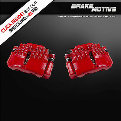 Front Red Brake Calipers 1998 1999 2000 2001 2002 CHEVY CAMARO FIREBIRD TRANS AM