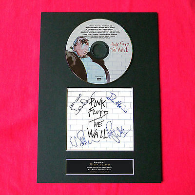 PINK FLOYD The Wall Album Signed CD DISC MOUNTED A4 Reproduction Autograph 13