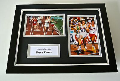 Steve Cram SIGNED A4 FRAMED Photo Autograph Display Olympic Athletics & COA