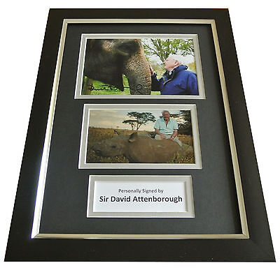 David Attenborough Signed A4 FRAMED Photo Autograph Display TV Memorabilia & COA