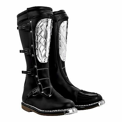 Alpinestars Supervictory steel plate black Motorcycle Boots, NEW!