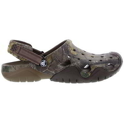 Crocs Swiftwater Realtree Xtra Clog Mens Slip On Mule Clogs Size 7-12