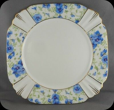 "Vintage Royal Albert Deco Blue Pansy Chintz 7"" Tea Plate Circa 1935 (6 availabl)"