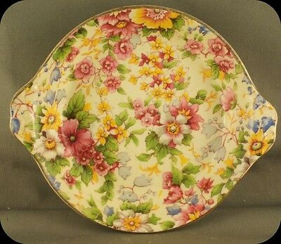 Vintage Royal Winton Grimwades Chintz Cheadle Handled Candy Mint Serving Dish