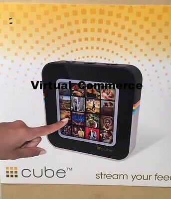 NEW CUBE FRAME Streaming Display Social Media Connect Friends FRAME Photo WHITE