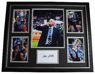 Walter Smith SIGNED Framed Photo Autograph Huge display Glasgow Rangers & COA