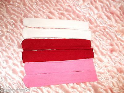 3 Pr Doll Socks In Red Pink White For Little Angel Arranbee R & B 10 To 14 Inch