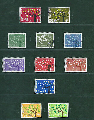 Europa CEPT 1962 San Marino and the others, 20 used sets