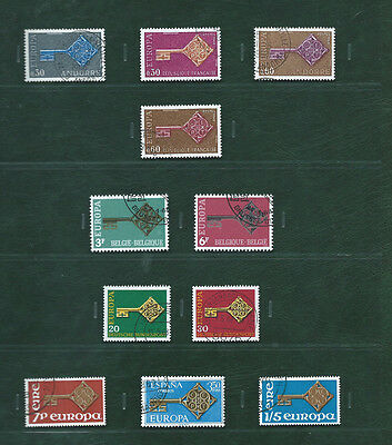 Europa CEPT & related 1968 Portugal and the others, 22 used sets