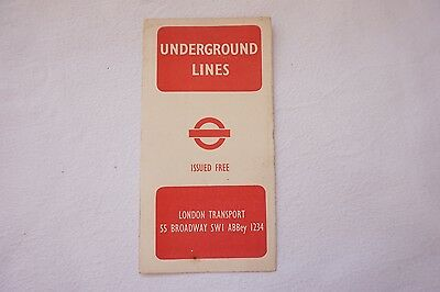 1945 No. 1 Railway Map Harry Beck London Transport Underground Lines Tube