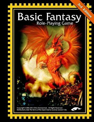 Basic Fantasy Role-Playing Game 3rd Edition Chris Gonnerman 170 pages Broche