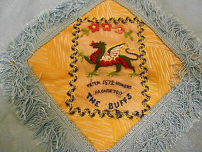 silk  military antimacassar   of the Buffs       royal east kent regiment
