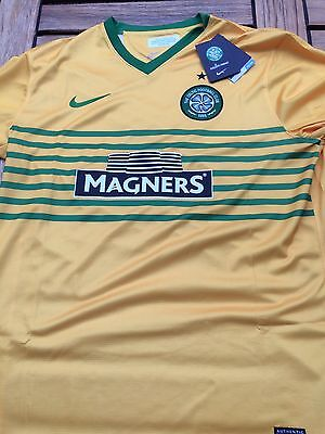 Celtic Away Shirt by Nike & Magners Size Large Retro Shirt Scotland Brand New