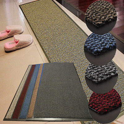 Large & Small Heavy Duty Non Slip Rubber Barrier Mat Rugs Back Door Hall Kitchen