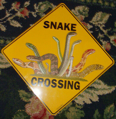 Snake Crossing novelty wall sign all kinds yellow unique novelty design picture