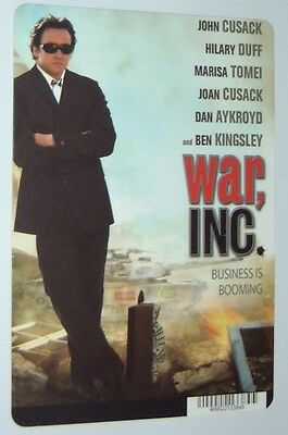 WAR INC movie backer card JOHN CUSACK - this is NOT a movie
