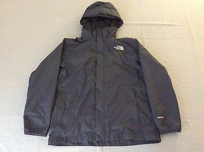 The North Face Outdoors Zip Up Jacket Hyvent Hooded Gray Boys Youth Kids Large