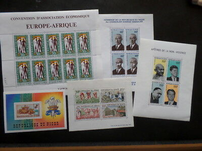 Niger MH / MNH Selection of Souvenir Sheets & 1 Deluxe Proof Airmail
