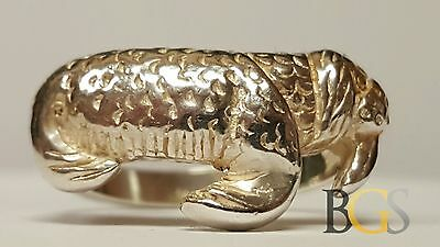 Vintage Ladies Solid Sterling Silver WALRUS Ring - Size 7 - FREE SHIPPING