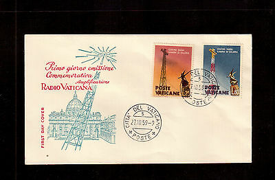 Vatican 1959 First Day Cover, Papal Radio Station #262/62 !!2