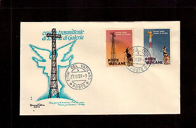 Vatican 1959 First Day Cover, Papal Radio Station #262/62 !!3