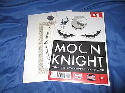 MOON KNIGHT #1 Signed by Stan Lee  w/COA  ~Movie/TV/Marvel Now