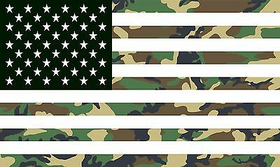 Camouflage Camo American Flag Banner - 3' X 5'
