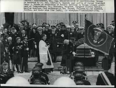 1972 Press Photo Funeral services for  ex-President Harry Truman at Independence
