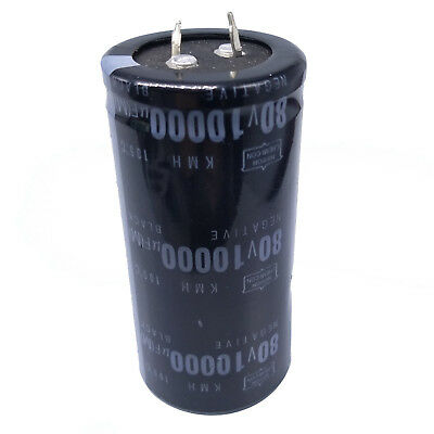 1 Piece 12000uF  80V Electrolytic Capacitor 85 degrees 35mm x 62mm   STOCK  USA