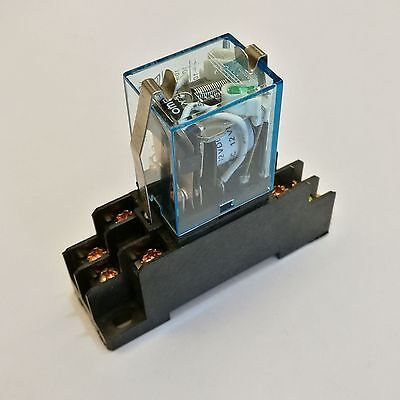 US Stock Omron LY2NJ HH62P-L JQX-13F Relay 110V AC Coil 10A & PTF08A Socket Base
