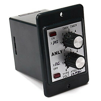 US Stock Timer ATDV-Y 24V DC 60S Second Double Time Delay Switch & Base Socket