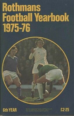 Rothmans Football Yearbook 1975/76 Softback Edition No6 FREE POST UK