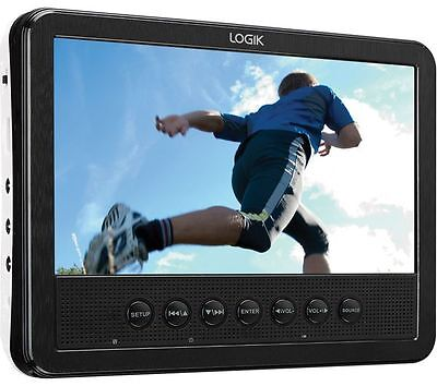 """7"""" Multi Region In Car Portable DVD, Rechargeable Tablet Style DVD Player USB"""