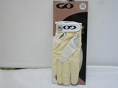 Quality Tan Through Ladies Left Hand Cabretta Leather Large Golf Glove