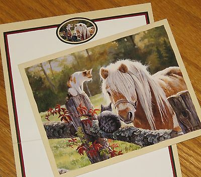 Just Visiting Persis Clayton Weirs horse cat Lang Bookmark Deluxe Note Cards 3ct