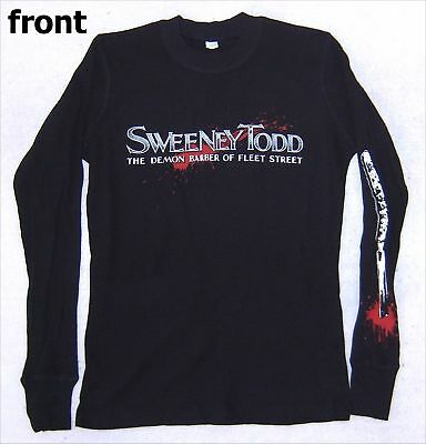 Sweeney Todd Demon Barber Thermal Shirt Medium New Movie Johnny Depp Official