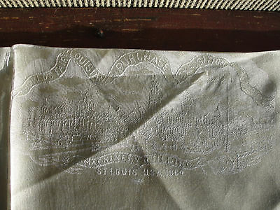1904 Louisiana scarf, silk, vintage, old, embroidered