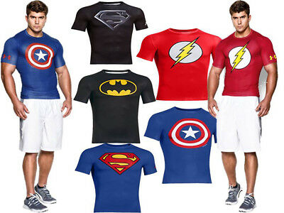 Under Armour Alter Ego Compression Muscle Fitness Shirt Batman Superman 1244399