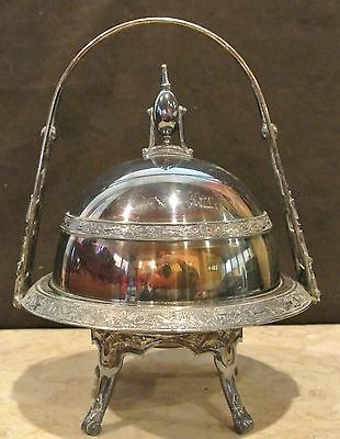 WALLINCFORD CT.HALL ELTON &Co.Silver Plate Caviar/Butter Dish Trible Plate