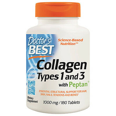 Collagen Types 1 & 3 with Peptan - 180 x 1000mg Tablets