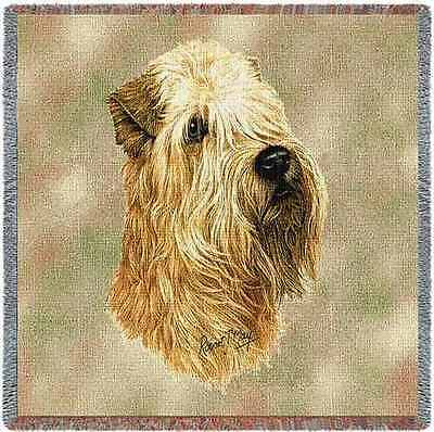 Lap Square Blanket - Wheaten Terrier by Robert May 1189 IN STOCK