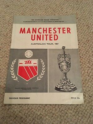 Manchester United v  Northern NSW Australian Tour 1967 Programme..George Best