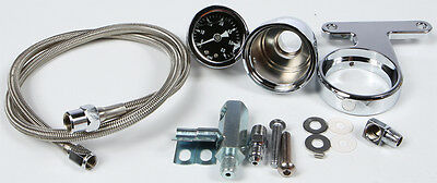 HardDrive Oil Pressure Gauge Kit For Harley-Davidson Chrome 169333