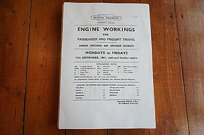 1961 Fascimilie Engine Workings Southern Region London Western & Southern 229p