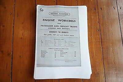 1957 Fascimilie Engine Workings Southern Region London East District 237 pages