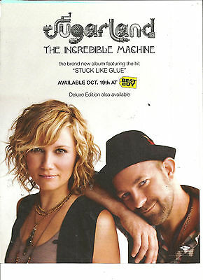 Sugarland, The Incredible Machine, Full Page Promotional Ad
