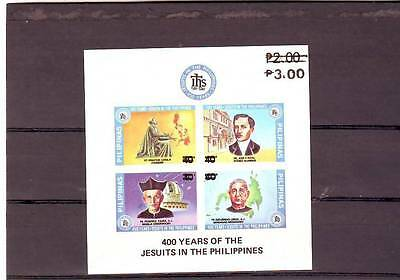 a99 - PHILIPPINES - SGMS1856 MNH 1984 SURCH 3.00 - 400 YEARS OF THE JESUITS