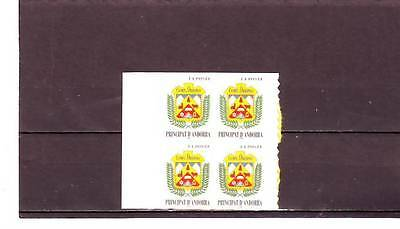 Andorra(French) - Sgf537 Mnh 1998 Arms Of Ordino - Block Of 4