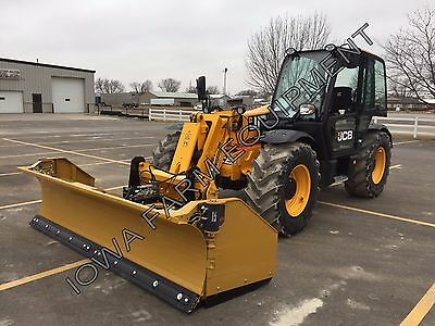Horst 3200 Telehandler Q/A Snow Wing,Pusher,10'Closed-15'Open: STEEL TRIP EDGE!